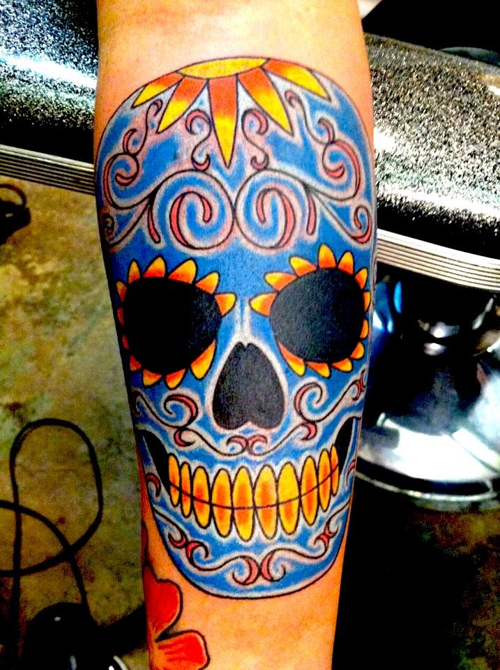 Skulls jimmy the saint tattoo artist for Tattoo artists in new orleans